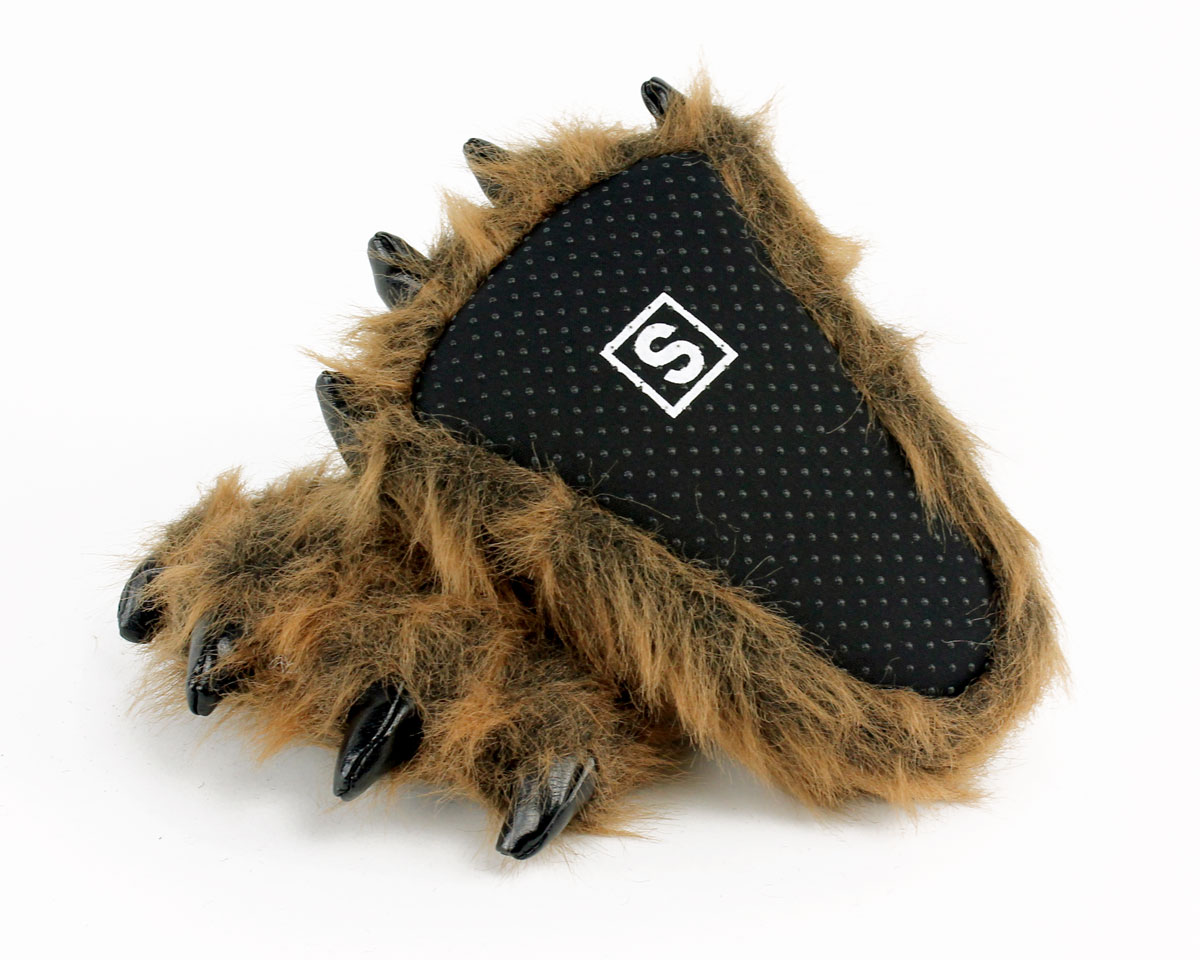 29c30fa47345 ... Kids Grizzly Bear Paw Slippers View 4