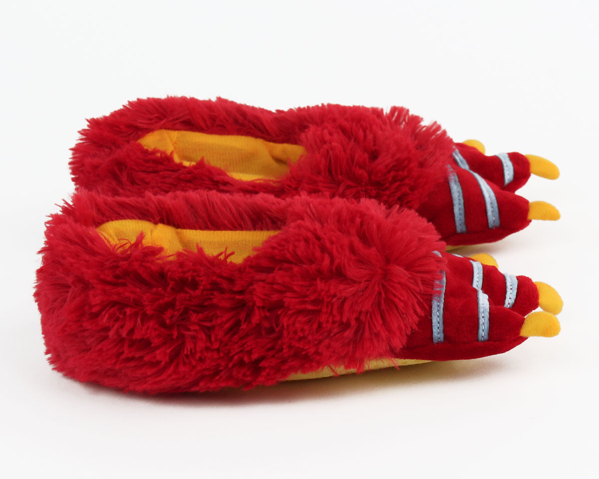 Kids Red Monster Slippers Kids Monster Foot Slippers
