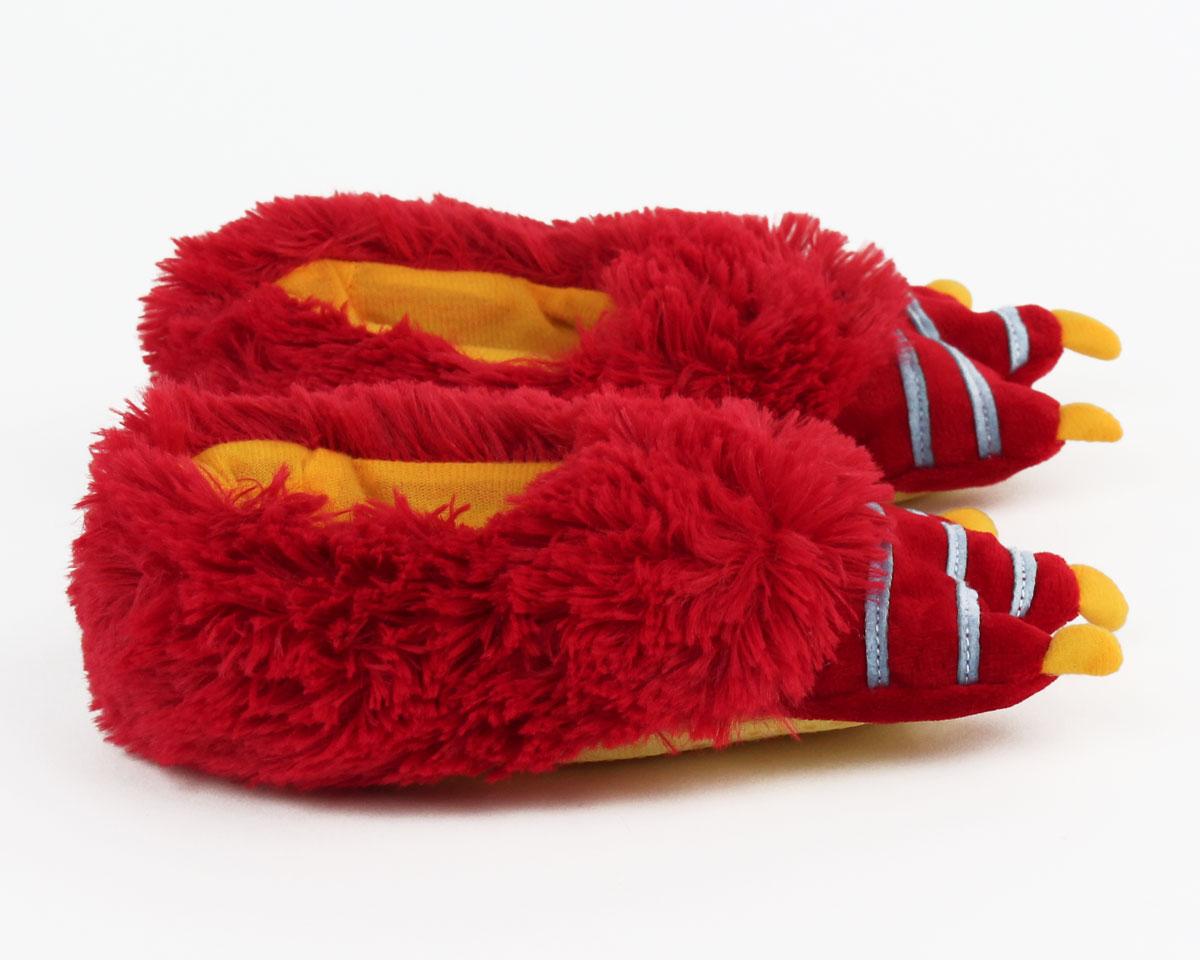 Kids Red Monster Slippers Kids Monster Foot Slippers