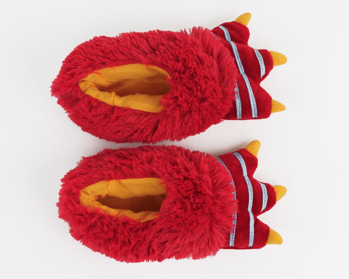 Kids Red Monster Slippers