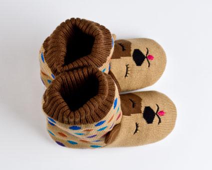 Knitted Sock Dog Slippers :: Animal Slippers