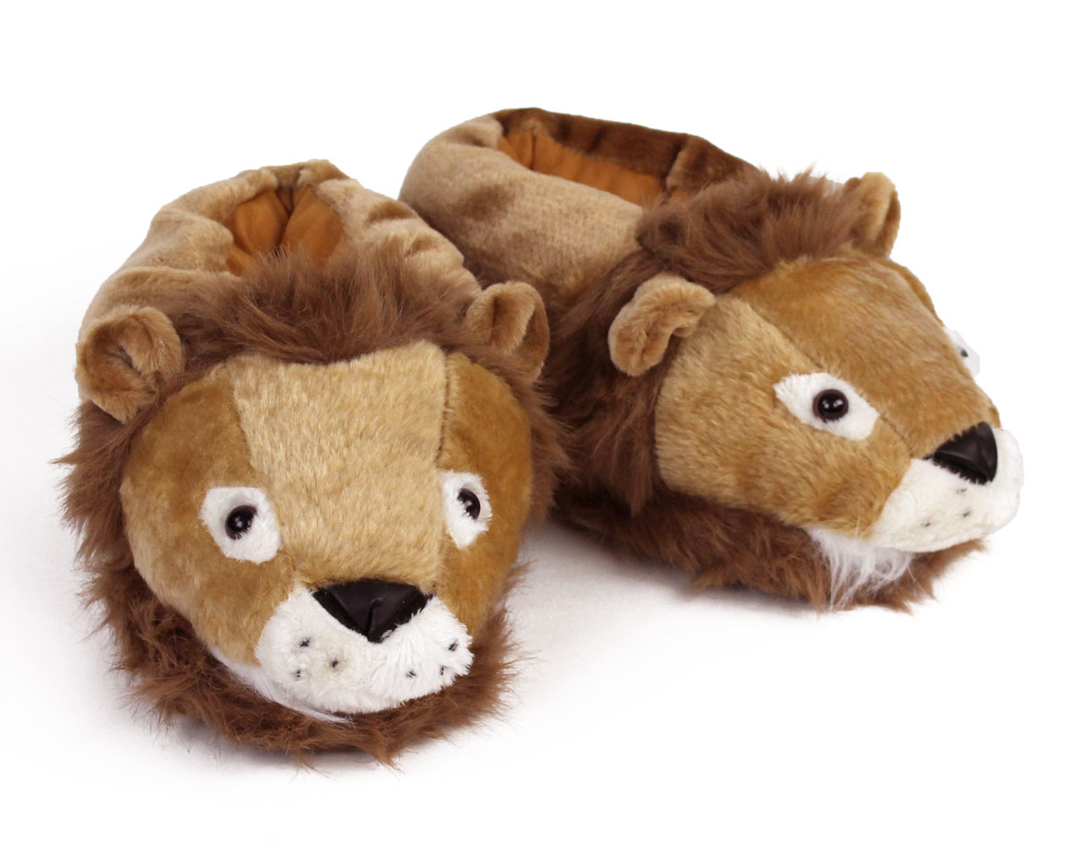 Lion Slippers Lion Animal Slippers Fuzzy Lion Slippers
