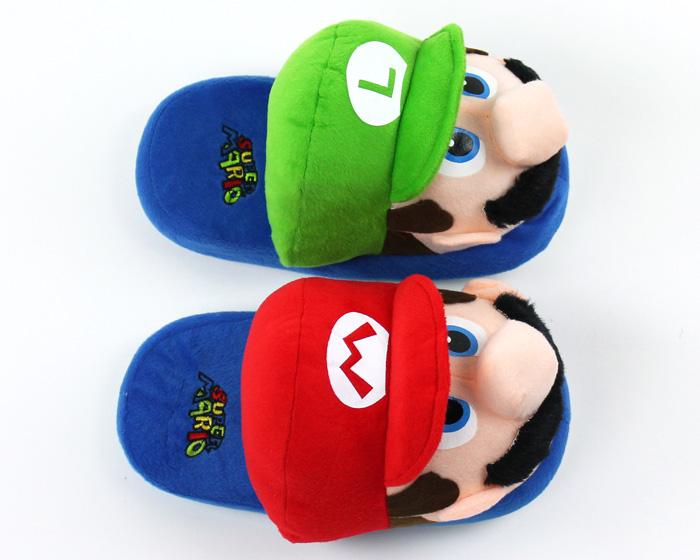Mario and Luigi Slippers