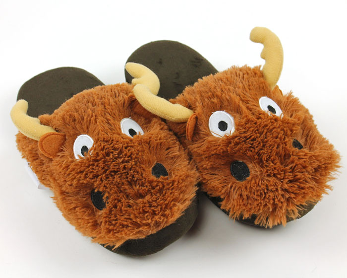 Moose Critter Slippers 1