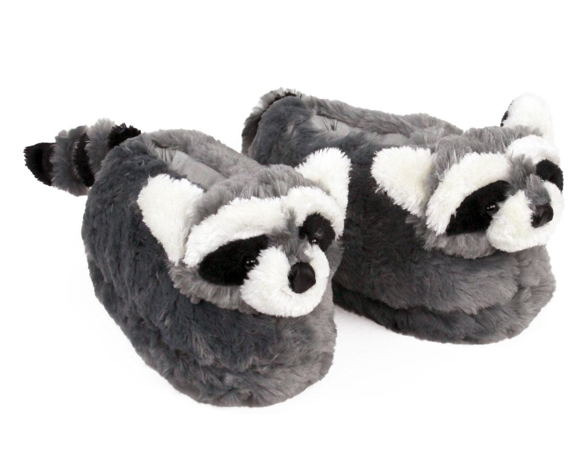 Raccoon Slippers Plush Raccoon Animal Slippers