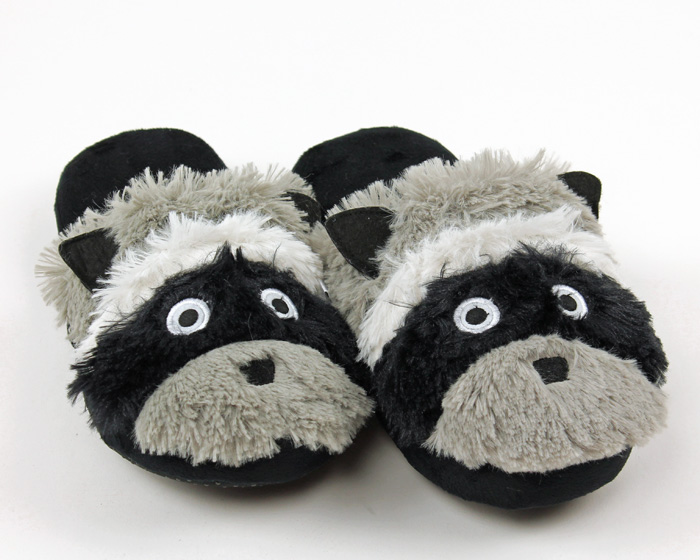 Raccoon Critter Slippers 1