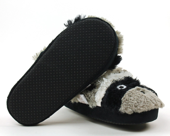 Raccoon Critter Slippers 3