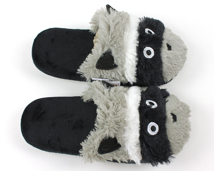 Raccoon Critter Slippers 4