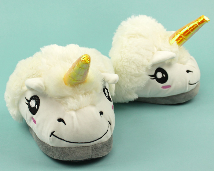 Unicorn Slippers | Plush Unicorn Slippers for Men, Women & Kids