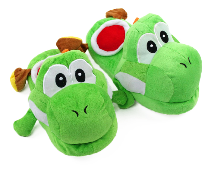 Yoshi Slippers 3/4 view