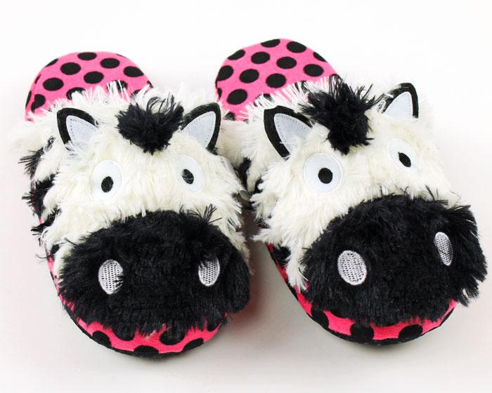 Zebra Critter Slippers 1