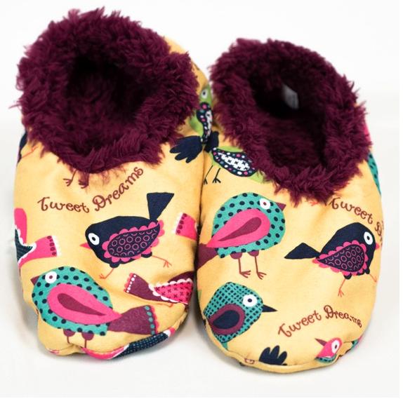 Tweet Dreams Fuzzy Feet Slippers