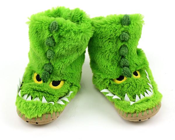 Kids Alligator Slouch Slippers
