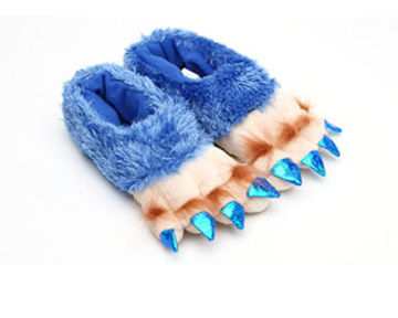 Toddlers Blue Creature Feet Slippers
