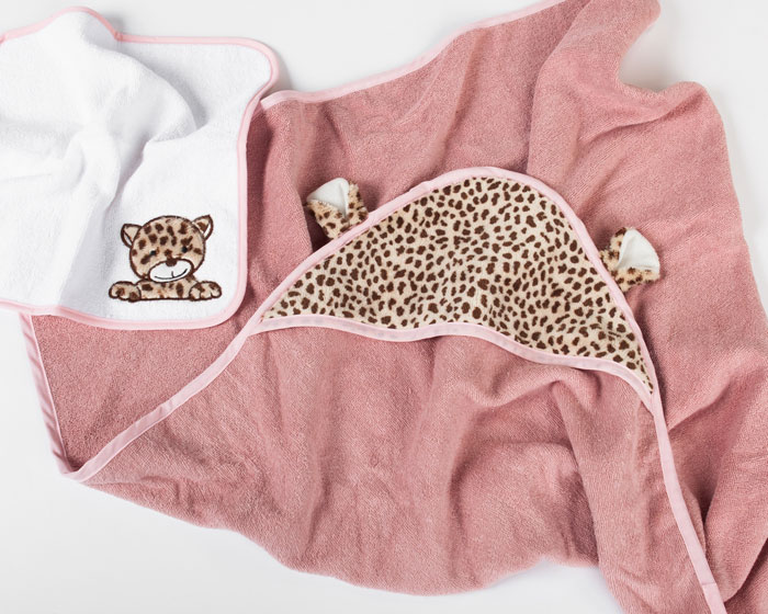 Cheetah Hooded Towel