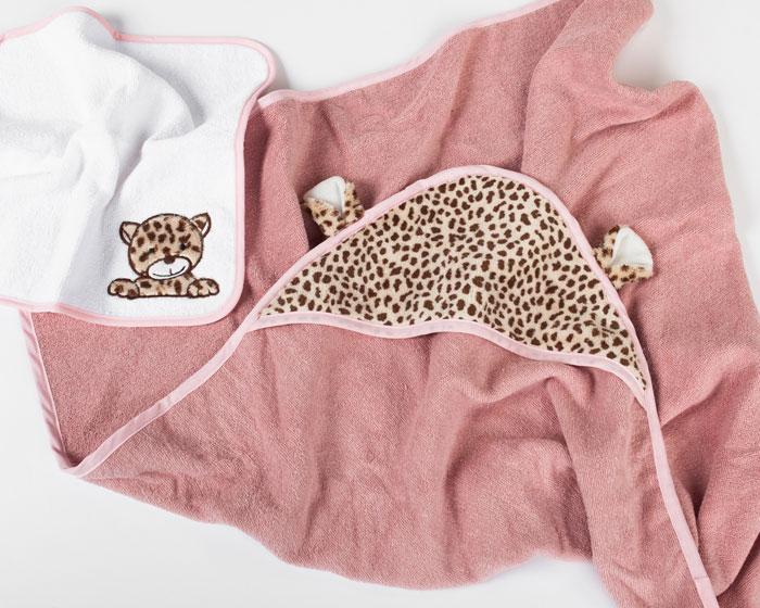 Cheetah Hooded Towel