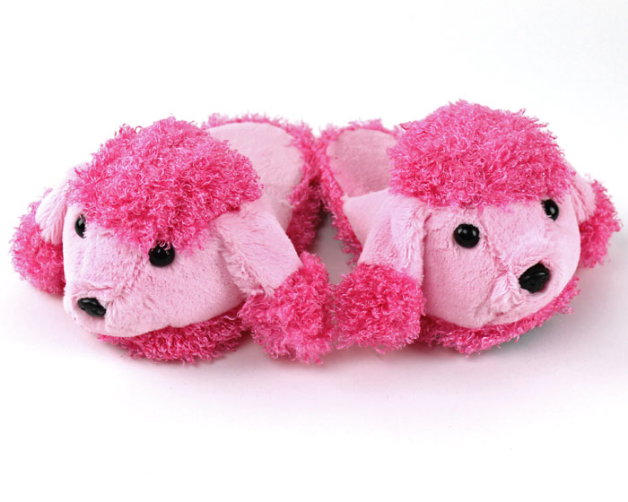 Kids Pink Poodle Slippers
