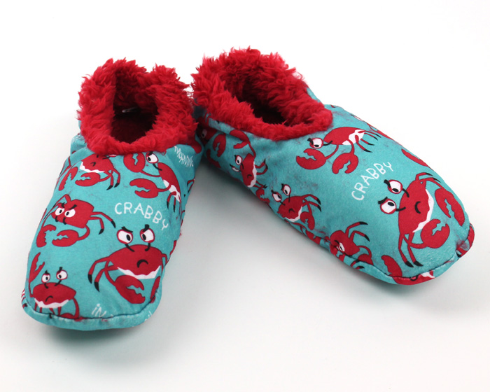 Crabby in the Morning Fuzzy Feet Slippers