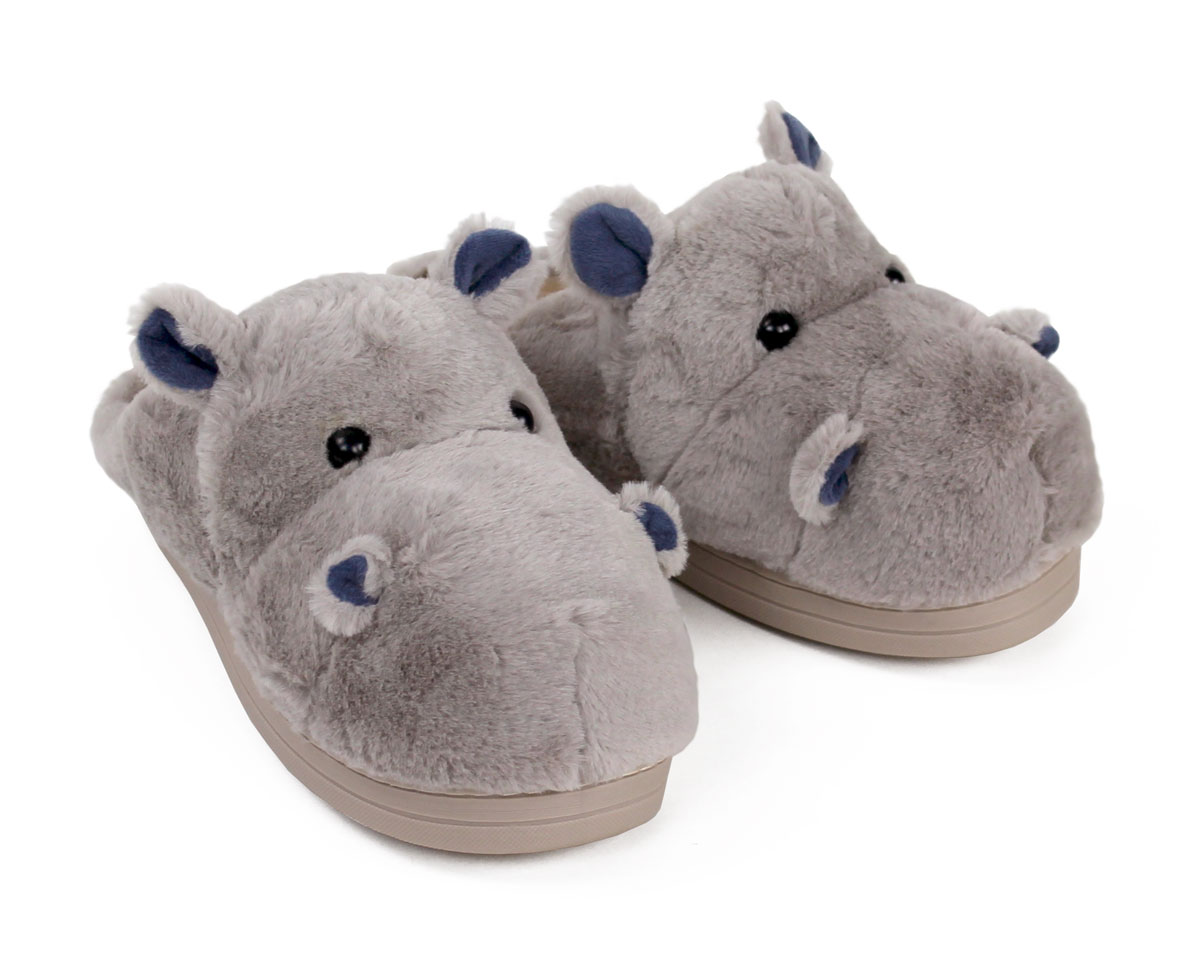 Fuzzy Hippo Slippers