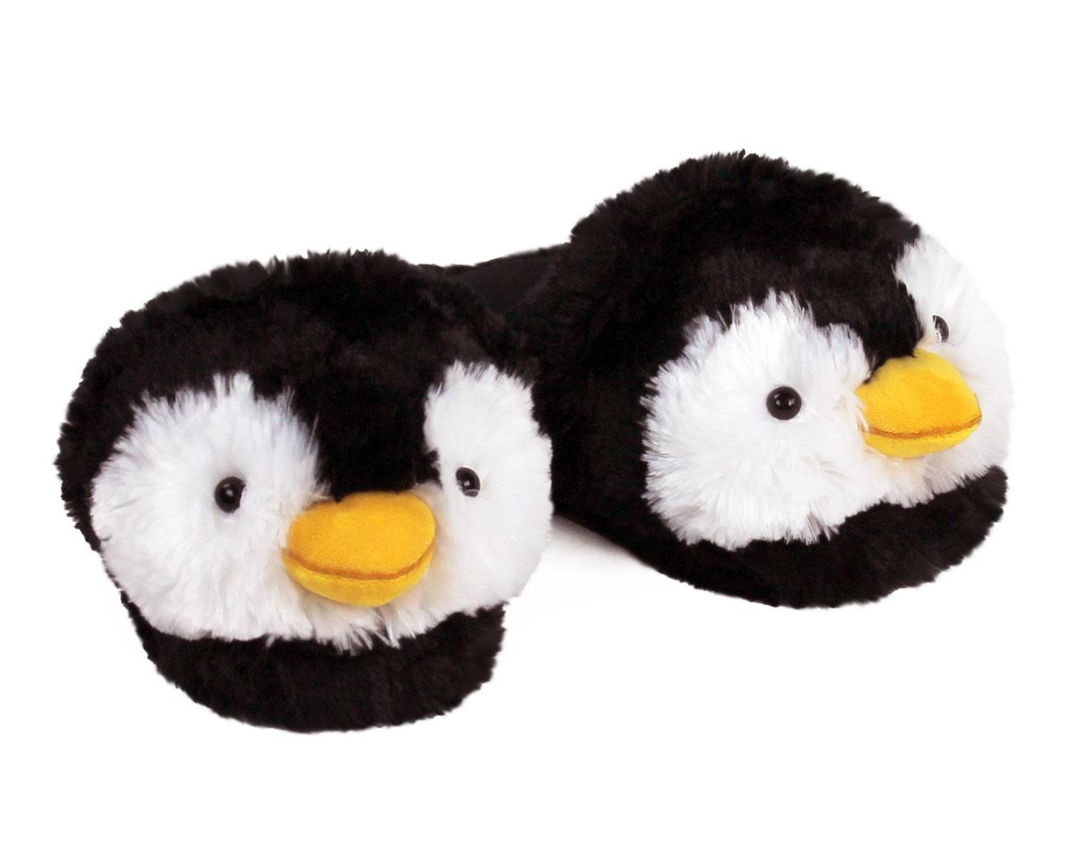 Fuzzy Penguin Slippers