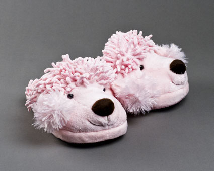 Fuzzy Poodle Slippers