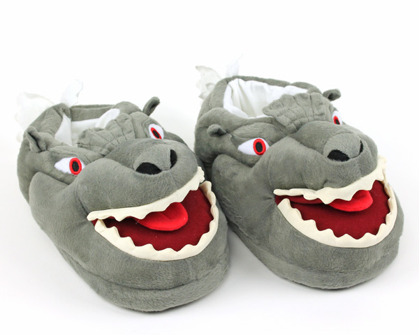Glow-in-the-Dark Godzilla Slippers