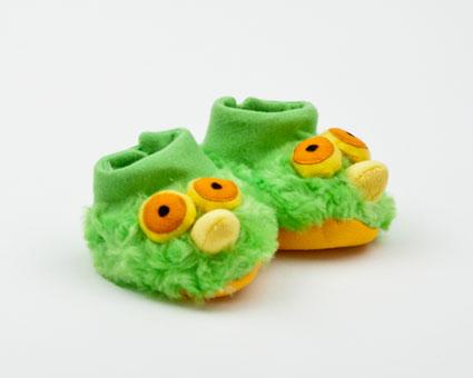 Green Bird Boogie Booties