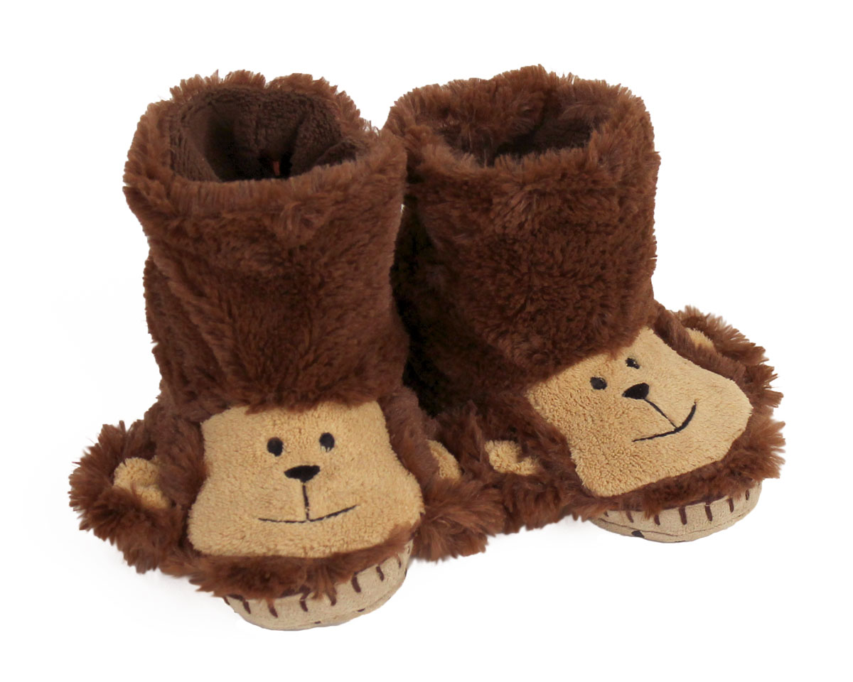 Kids Monkey Slouch Slippers