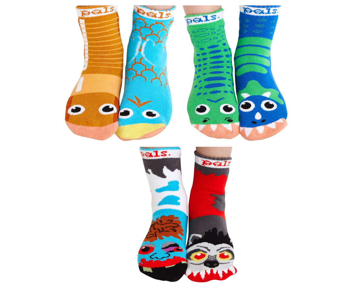 5 out of 5 stars Good quality, toddler favorite. Great cotton quality. My son wears size 6 shoes and those fit him great. I have some 2t-3t socks for him from hanes and they already look small on him. And he loves the design too, didn't want to take them off. Grips are good too.