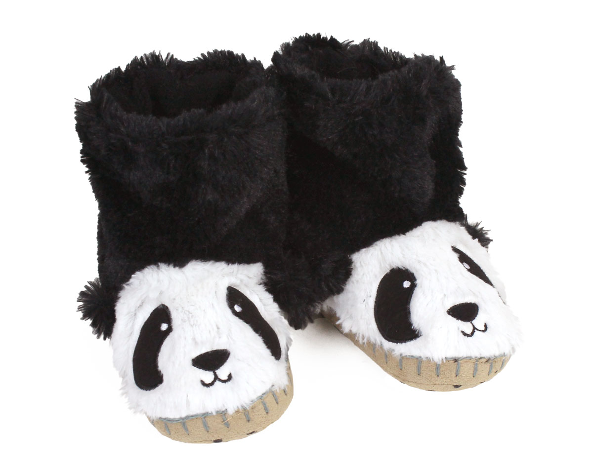 Kids Panda Slouch Slippers