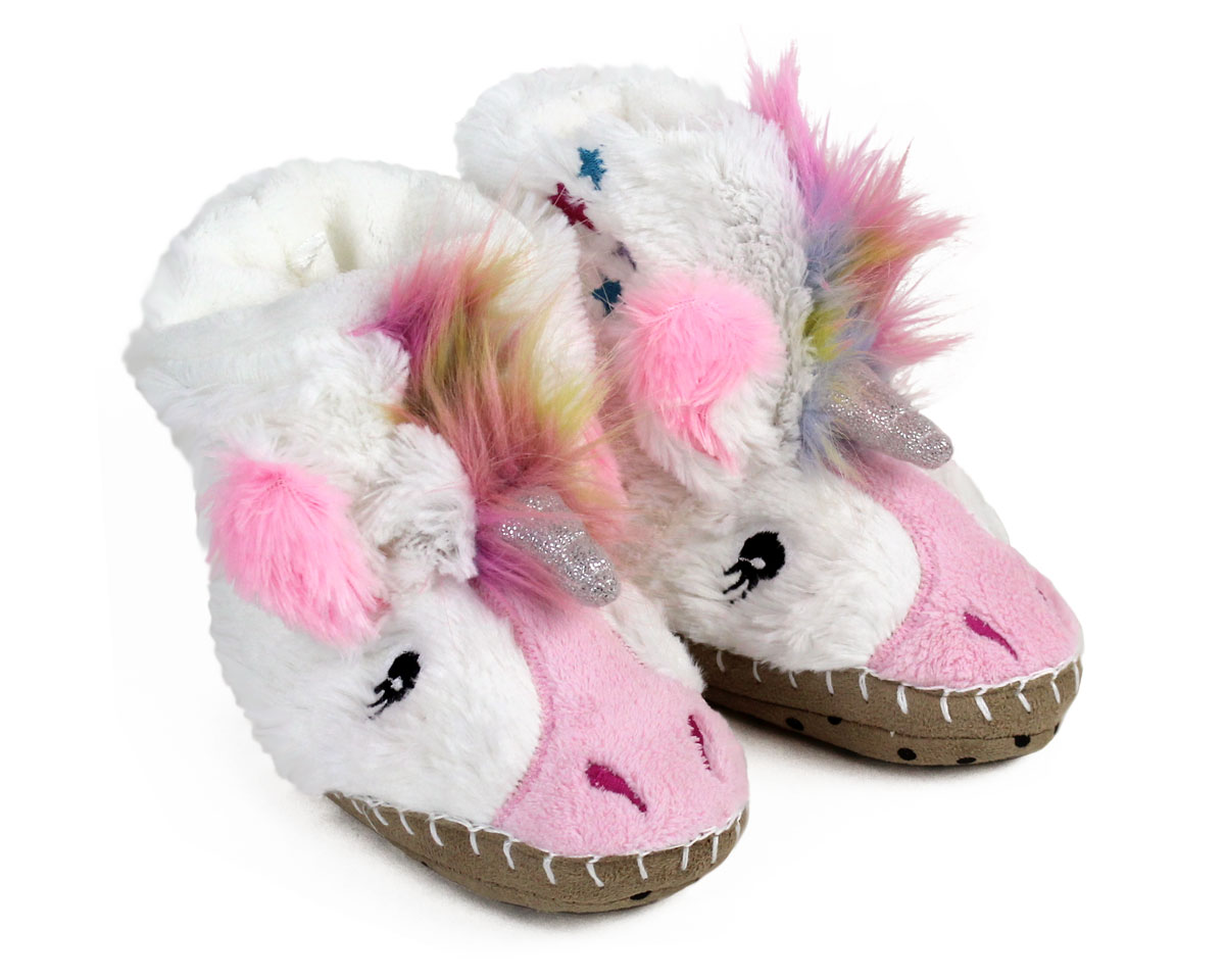 Kids Unicorn Slouch Slippers