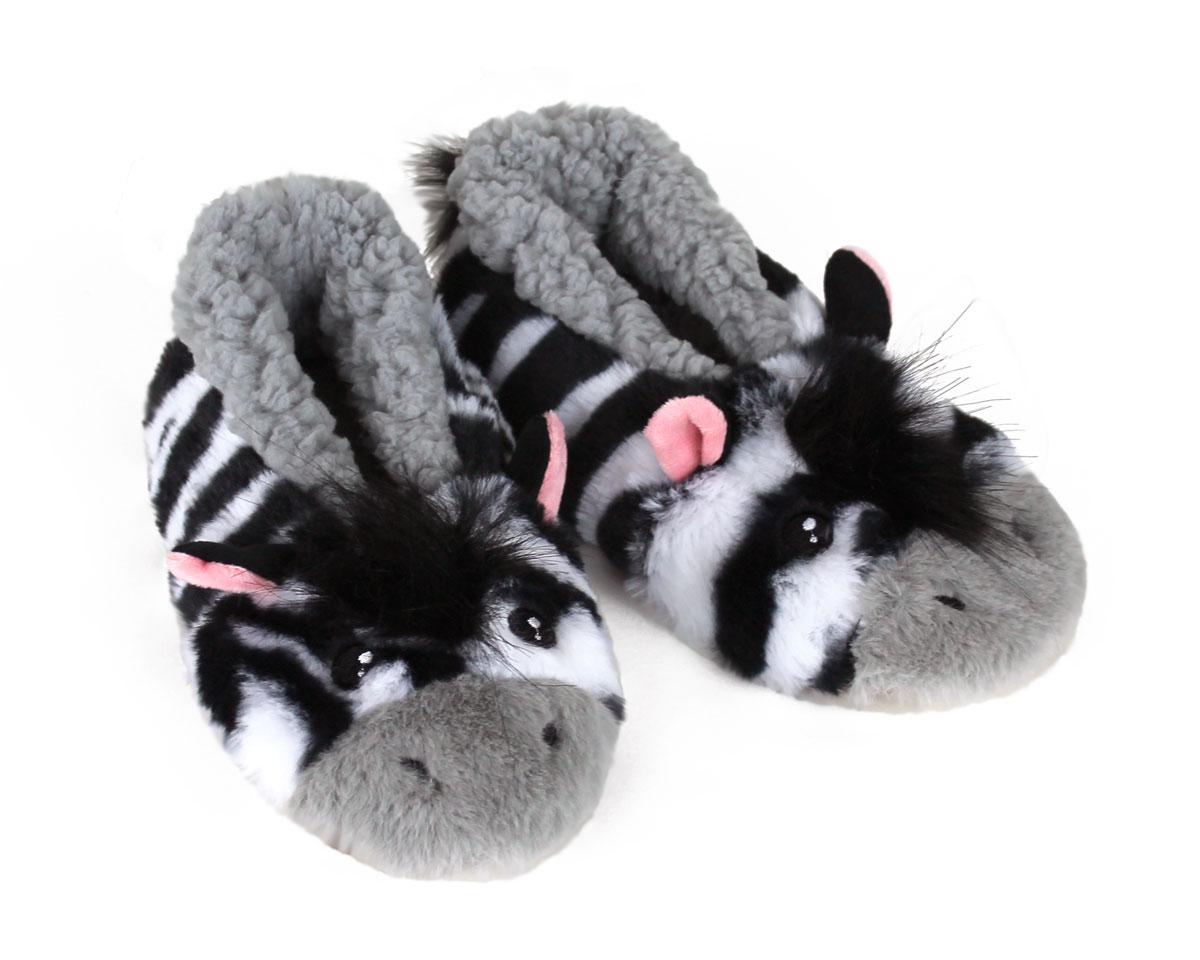 Kids Zebra Sock Slippers