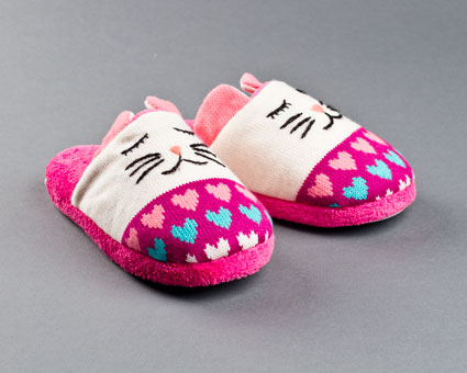 Knitted Clog Cat Slippers