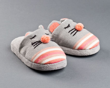 Knitted Clog Mouse Slippers