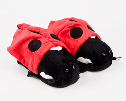 Lady Bug Animal Slippers