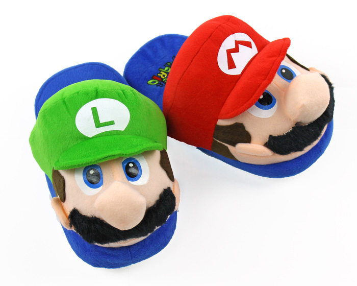 Mario and Luigi Slippers