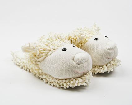 Microwaveable Lamb Animal Slippers