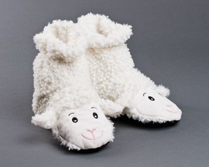 Microwaveable Sheep Sock Slippers