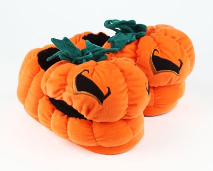 Orange Pumpkin Slippers