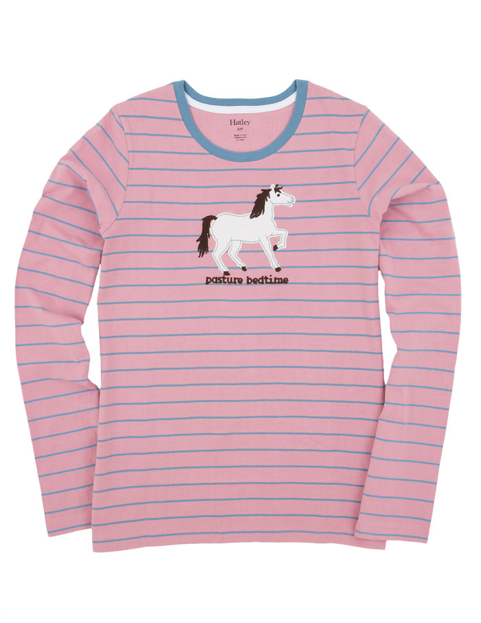 Pasture Bedtime Horse LS Pajama Top