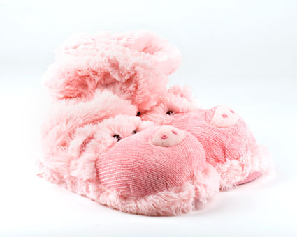 Pink Pig Sock Slippers