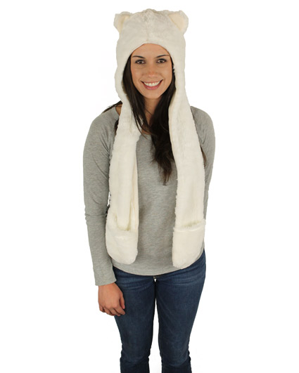 Polar Bear Hooded Scarf