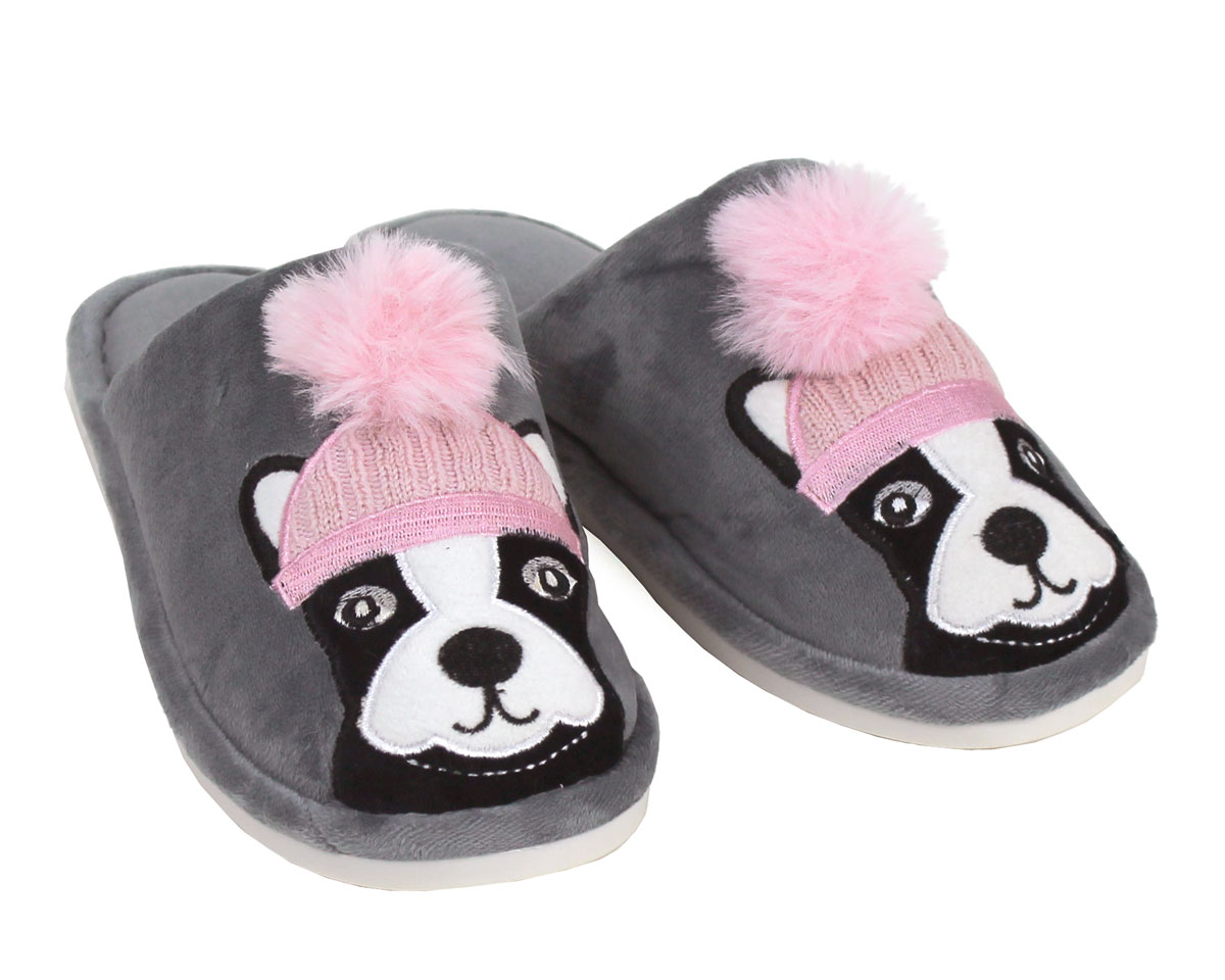 Pom Pom Dog Slippers