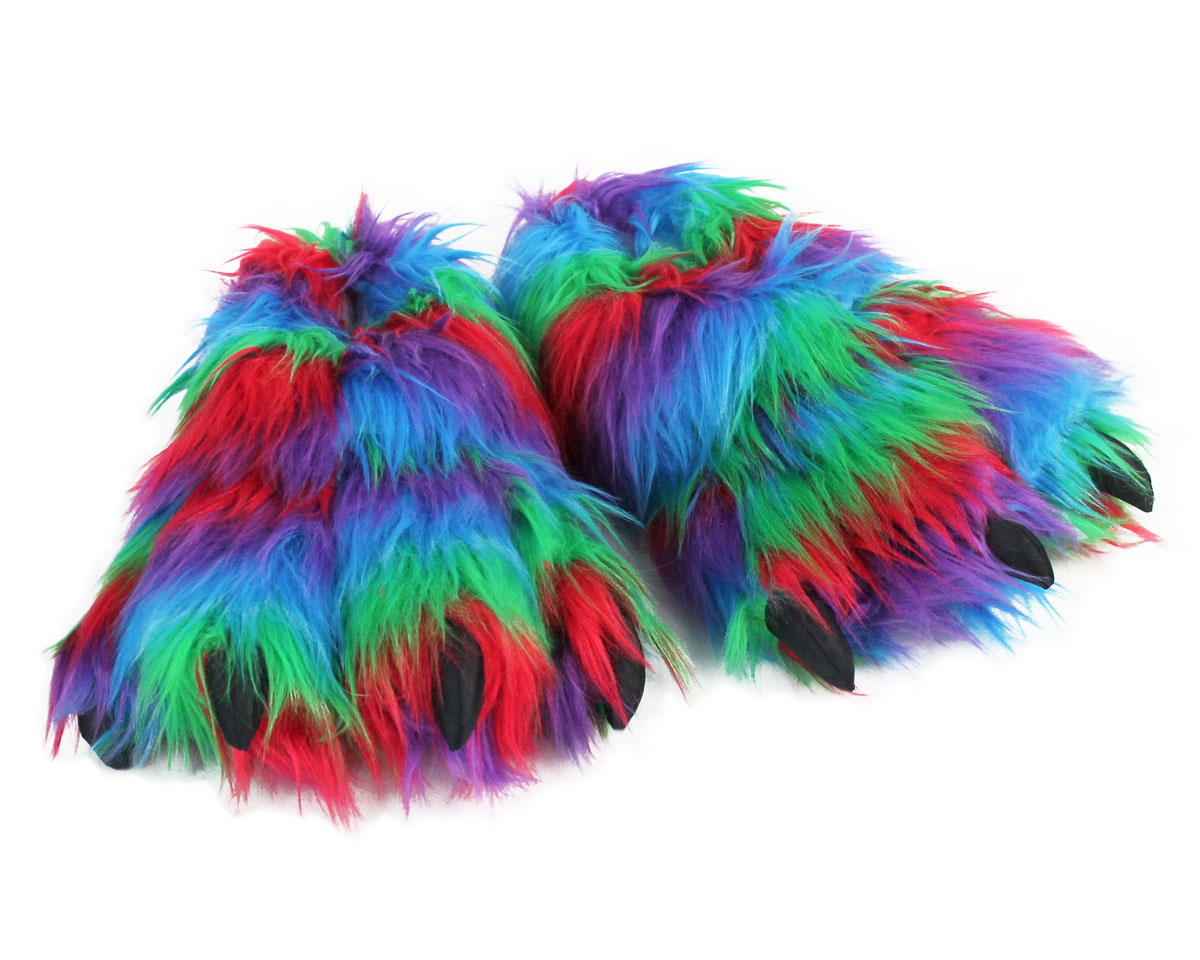 Rainbow Paw Slippers