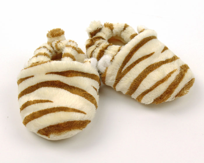 Tiger Baby Booties