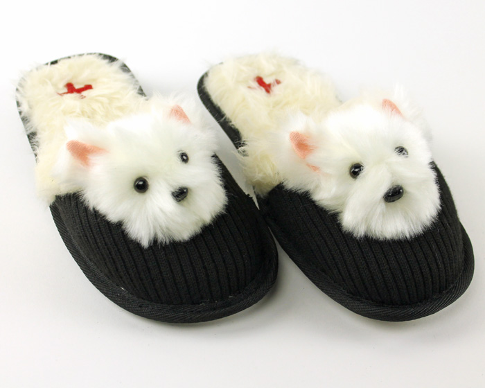 Westie Dog Slippers - Dog Slippers - Fuzzy Nation Dog Slippers