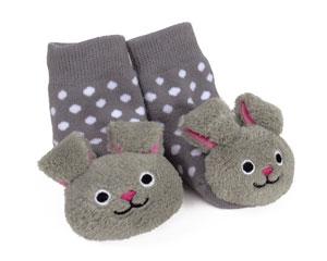 Bunny Baby Rattle Socks