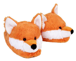 Fuzzy Fox Slippers