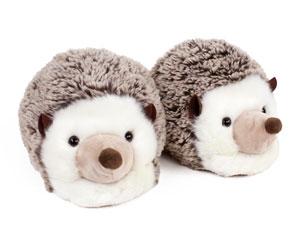 Fuzzy Hedgehog Slippers