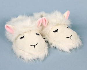 Fuzzy Lamb Slippers